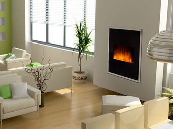 Miliboo - chrisler cheminee - Electric Fireplace