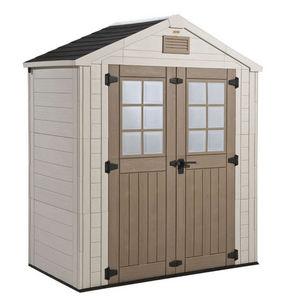 KETER - abri de jardin en résine aspect bois 1,9m² - Wood Garden Shed