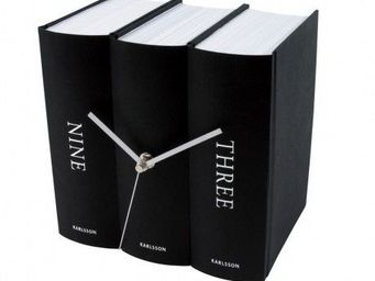 Karlsson Clocks - karlsson - horloge book - karlsson - noir - Alarm Clock
