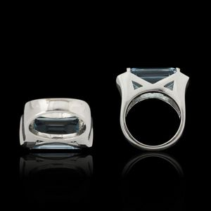 Expertissim - bague or, topaze et diamants - Ring