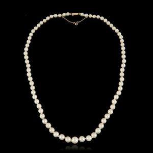 Expertissim - collier de perles de culture blanches en chute - Necklace