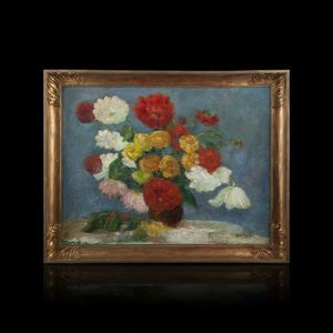 Expertissim - jean deville (1872-?). bouquet de pivoines - Decorative Painting