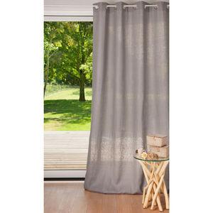 Maisons du monde - rideau lin lourd acier - Eyelet Curtain