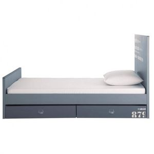 Maisons du monde - en bois gris cargo - Single Bed