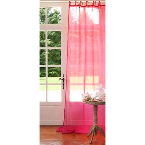 MAISONS DU MONDE - rideau lin fuchsia - Lace Curtain