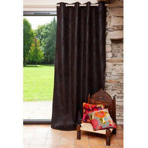 Maisons du monde - rideau swedine marron - Eyelet Curtain