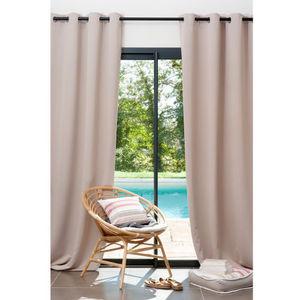 Maisons du monde - rideau occultant beige - Eyelet Curtain