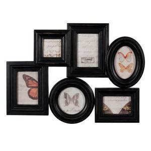 Maisons du monde - cadre louisa 6 vues noir - Multi View Picture Frame