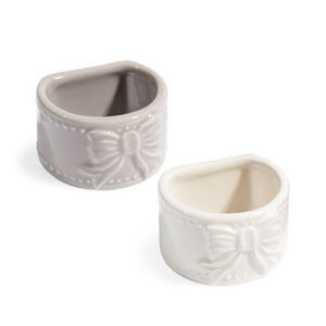 Maisons du monde - assortiment de 12 ronds de serviette pierrot - Napkin Ring