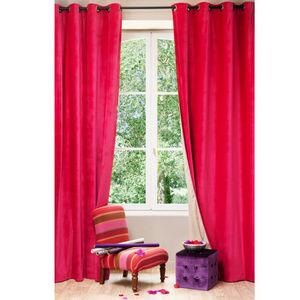 Maisons du monde - rideau velours fuchsia - Eyelet Curtain