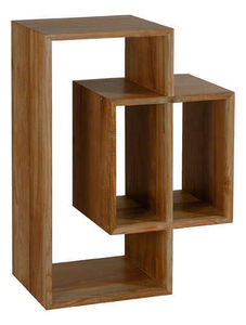 MOOVIIN - rangement 3 niches majestic en teck recyclé 80x35x - Shelf