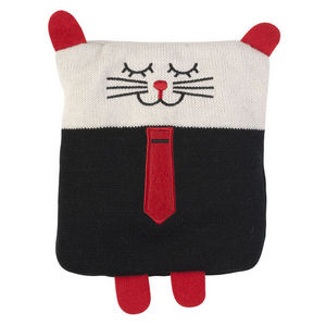 La Chaise Longue - bouillotte tricot chat boy en coton 20x18x2cm - Soft Toy