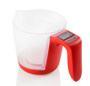 Brandani - balance doseur électronique rouge 14x22x14cm - Measuring Cup