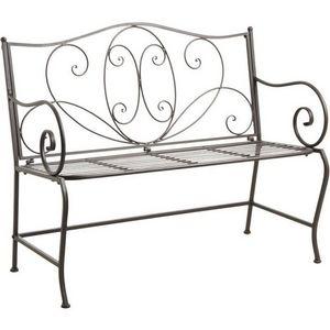 Aubry-Gaspard - banc de jardin en métal vieilli - Garden Bench