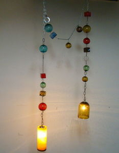 Elys Glass Art - l1518 - Suspended Ceiling Lighting