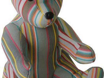Les Toiles Du Soleil - doudou ours chloe - Soft Toy