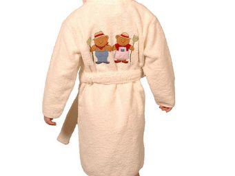 SIRETEX - SENSEI - peignoir enfant brodée ours fermier - Children's Dressing Gown
