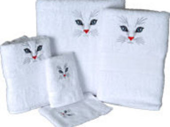 SIRETEX - SENSEI - serviette de toilette invité 30x50cm brodée tête d - Guest Towel