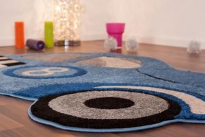 NAZAR - tapis amigo form 133x180 blue - Children's' Rug