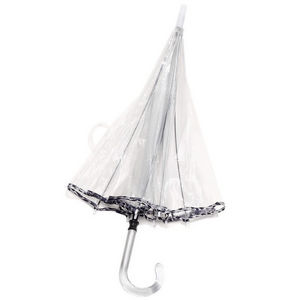 WHITE LABEL - parapluie cloche femme avec biais manche canne en - Umbrella