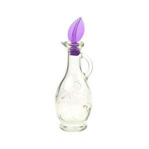 WHITE LABEL - huilier en verre avec bouchon hermétique - Oil And Vinegar Cruet