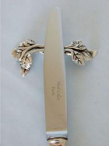 NOEL COLLET Orfèvre - feuille - Knife Rest