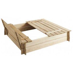 JARDIPOLYS - bac à sable avec bancs intégrés - Sandbox