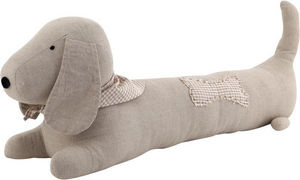 Aubry-Gaspard - chien de porte coton et lin - Draught Stopper