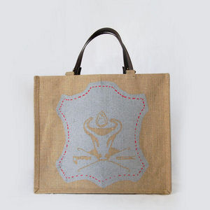 JOVENS - cabas en jute et cuir leather - Handbag