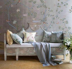 de Gournay - badminton - Wallpaper