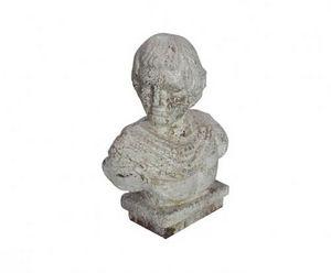 Demeure et Jardin - buste homme romain - Bust Sculpture