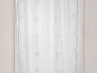 Coquecigrues - paire de rideaux bouquet blanc - Ready To Hang Curtain