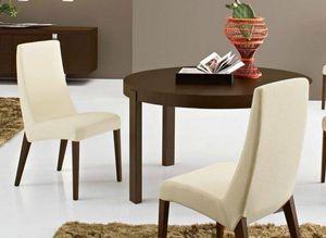 Calligaris - table repas extensible ronde atelier 130x130 de ca - Round Diner Table