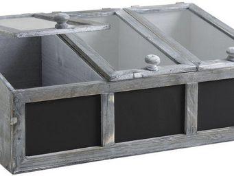 Aubry-Gaspard - serre de jardinage 3 compartiments - Mini Greenhouse