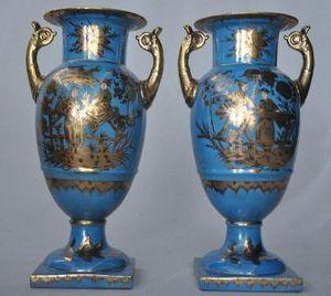 Demeure et Jardin - paire de vase style louis xvi - Decorative Vase