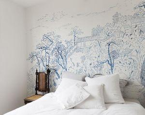 Bien Fait - coromandel indigo - Wallpaper