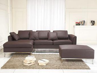 BELIANI - canapés en cuir - Adjustable Sofa