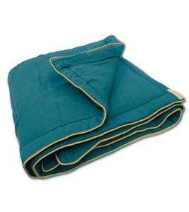 Couleur Chanvre - bleu du sud - Quilted Blanket