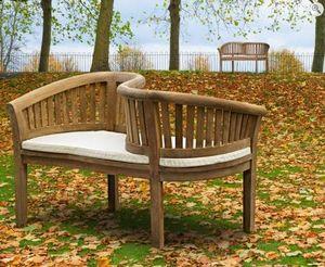 Lindsey Teak - teak garden love seat  - Garden Bench