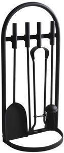 Aubry-Gaspard - valet de cheminée 4 accessoires - Fireplace Set