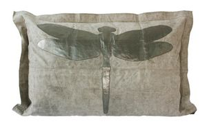 SHOW-ROOM - silver dragonfly-- - Rectangular Cushion