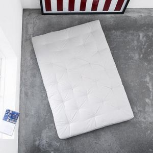 WHITE LABEL - matelas futon traditionnel écru 180*200cm - Futon