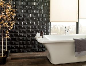 Porcelanosa Groupe - faces 53 negro - Bathroom Wall Tile