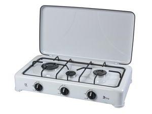 RIBILAND by Ribimex - réchaud à gaz émaillé 3 feux 3 feux - Kitchen Hot Plate