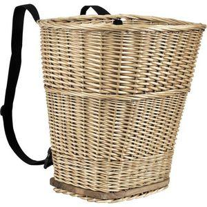Aubry-Gaspard - hotte en osier avec sangles - Fisherman's Basket
