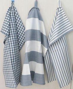 ITI  - Indian Textile Innovation - check & stripe - Tea Towel