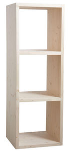 Aubry-Gaspard - etagère modulable 3 cases en épicéa 3 cases - Shelf