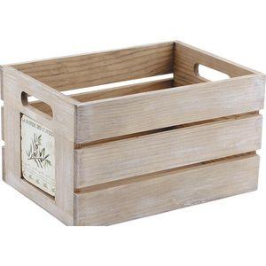 Aubry-Gaspard - grande caisse de rangement provence - Storage Box