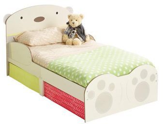 WHITE LABEL - lit + matelas morpho 140*70 cm disney - ourson n°2 - Children's Bed