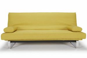 WHITE LABEL - innovation living clic clac minimum jaune mustard  - Futon